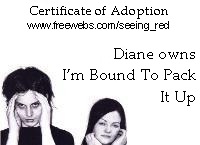 white stripes song adoption certificate