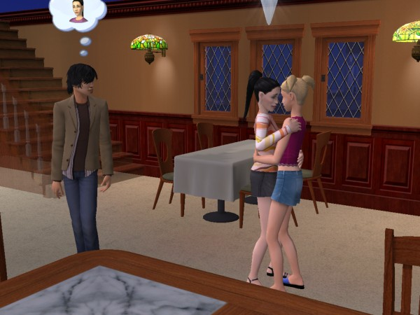 Sims making out